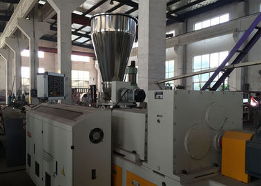 Drainage PE Pipe Extrusion Line / Hdpe Pipe Extrusion Machine Low Energy Consumption